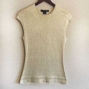 Ralph Lauren Black Label Silk Sleeveless Sweater
